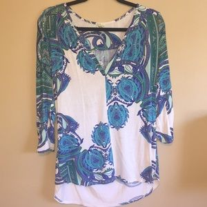 Anthropologie tunic top paisley